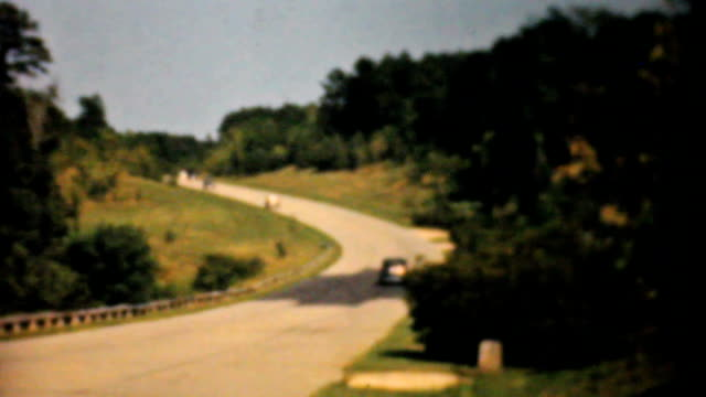 Old Cars Driving Down The Highway-1940 Vintage 8mm film video