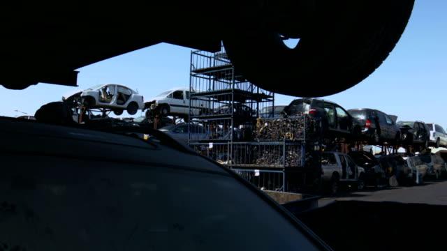 Old cars junkyard video