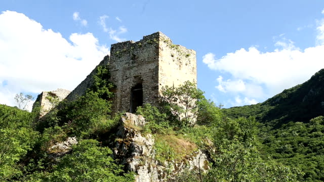 Old castle on top of a mountain video