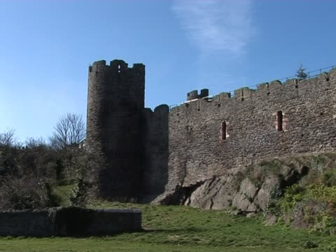 오래된 성 벽 (19 - 성 건축물 스톡 비디오 및 b-롤 화면