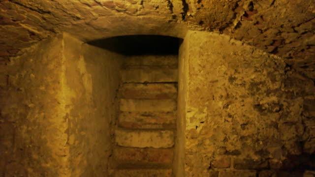 Old cellar, lamp light. video