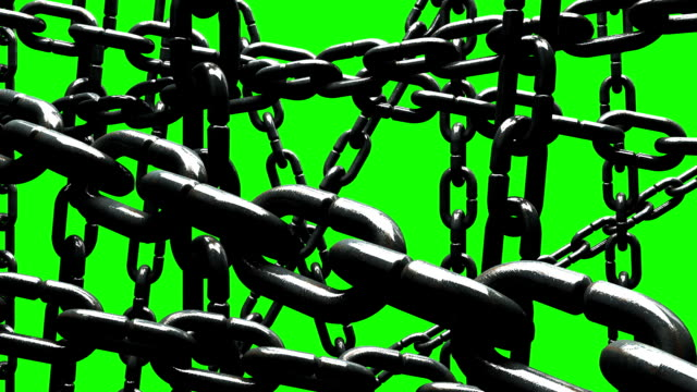 old chains abstract on green chroma key - rusty stock videos & royalty-free footage