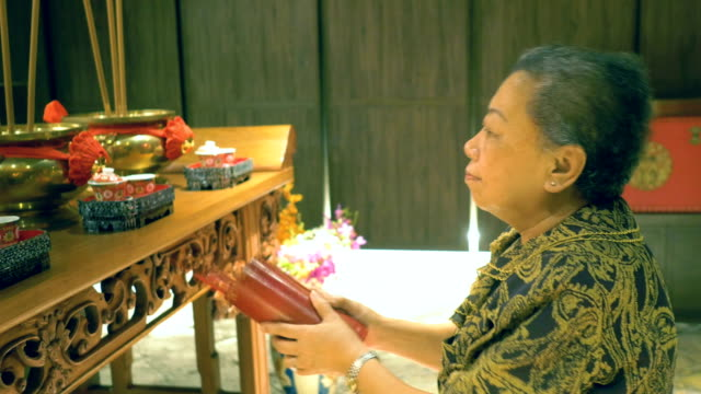 Old Chinese Culture : Fortune Telling Praying religion stock videos & royalty-free footage