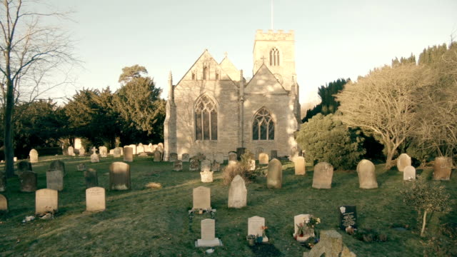 old church in england - gothic architecture stock videos & royalty-free footage