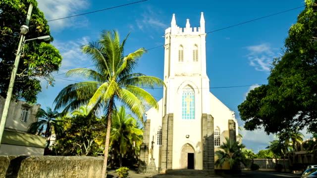 vecchia chiesa di mauritius - isole mauritius video stock e b–roll
