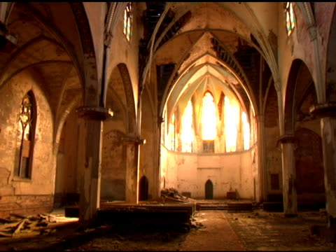 Old Church interior video