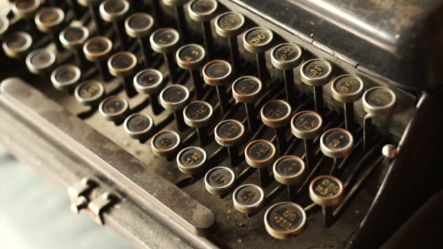 Old classic typewriter with Thai alphabets keyboard video
