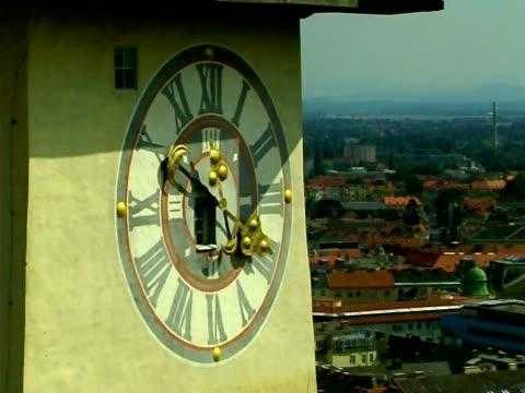 stary clocktower - styria filmów i materiałów b-roll