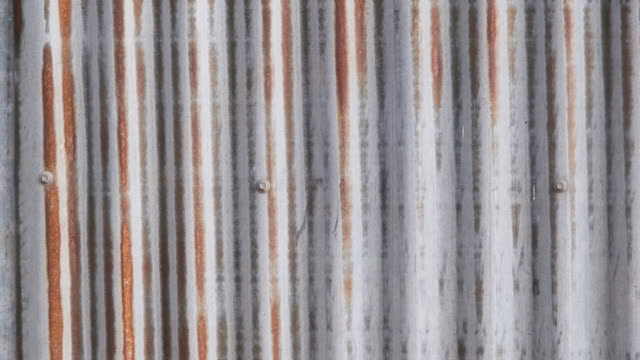 Old corrugated Zinc sheet with dirty and rust texture background
