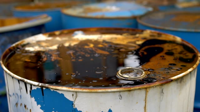 Old dirty barrels of oil