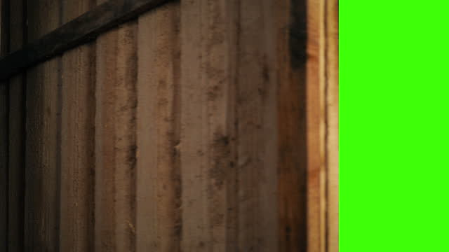 Old Door Opens Greenscreen Keyed Old wooden door is opened and closed with greenscreen barns stock videos & royalty-free footage