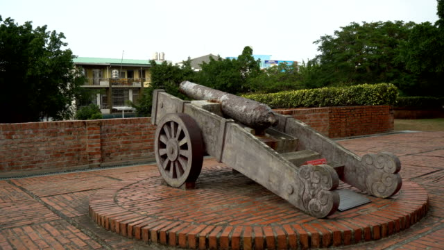 Old Dutch Cannon From 1600s Taken in Taiwan in 2018 fort stock videos & royalty-free footage