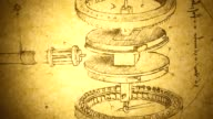 istock Old Engineering drawing 1132802979