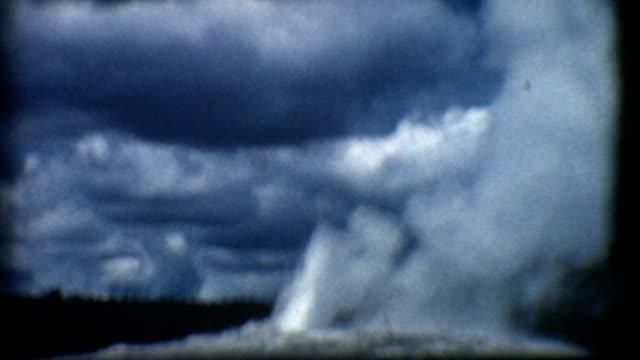 Old Faithful Geyser Yellowstone 1950's