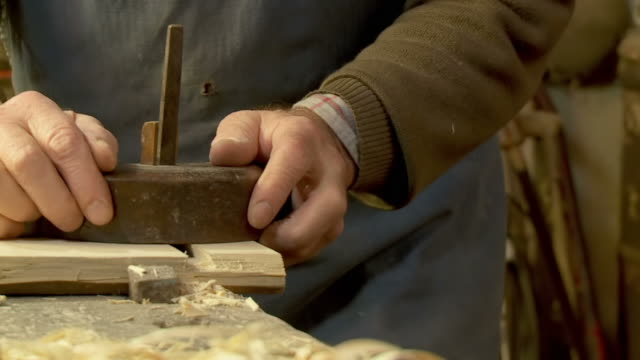 HD SLOW-MOTION: Old Fashion Carpentry video