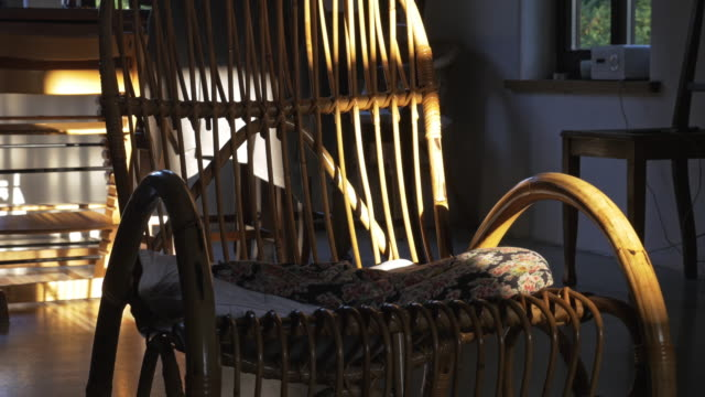 Old Fashioned Rocking Chair Old fashioned rocking chair. Close up. rocking chair stock videos & royalty-free footage