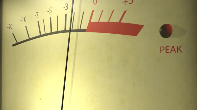 Old fashioned VU meter video