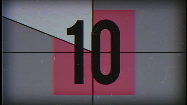 Old Film Countdown, 4K video