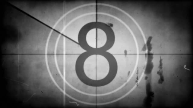 Old Film Countdown - Black & White with Audio (Full HD) video