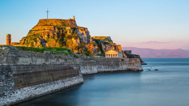 Old fortress of Kerkyra, Corfu island, Greece video