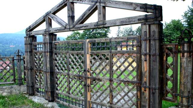 old gate - medieval architecture stock videos & royalty-free footage