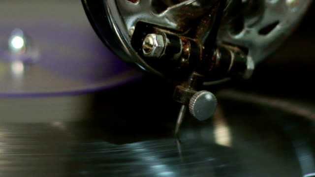 Old gramophone playing music (no audio) video