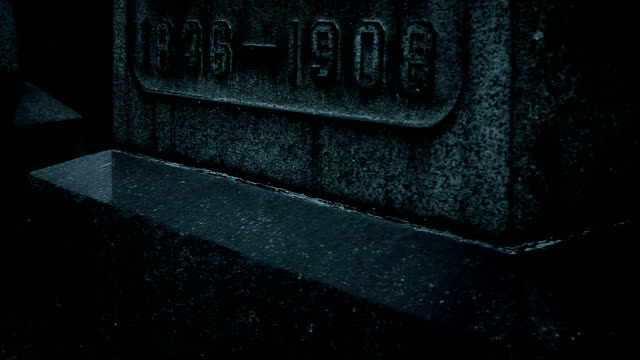 Old gravestones at night Old gravestones at night 19th century style stock videos & royalty-free footage