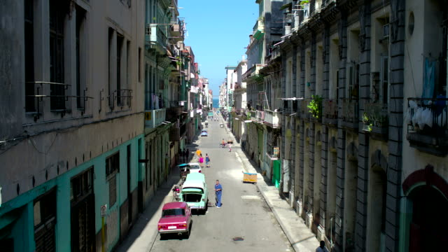 Old Havana Wide-Angle Street View, Cuba video
