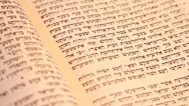 old hebräisches bibel 1 - tora stock-videos und b-roll-filmmaterial