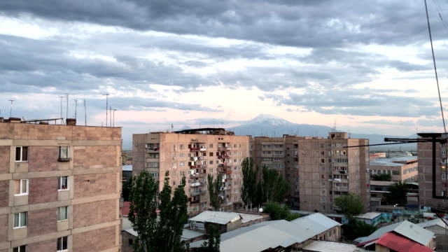 Old high-rise buildings in Yerevan, Armenia video