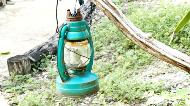 Old hurricane lamp. video
