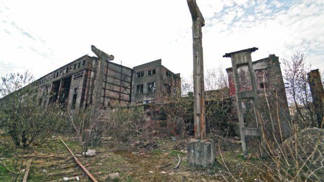 Old industrial building for demolition.