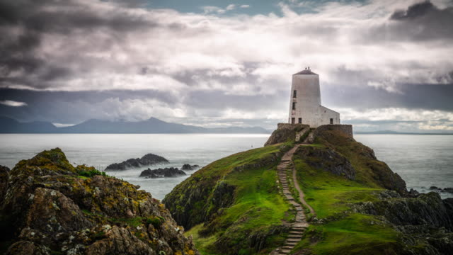 Old Lighthouse at Llanddwyn Island, Anglesey, Wales