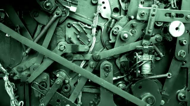 vidéos et rushes de vieille machine - rouage