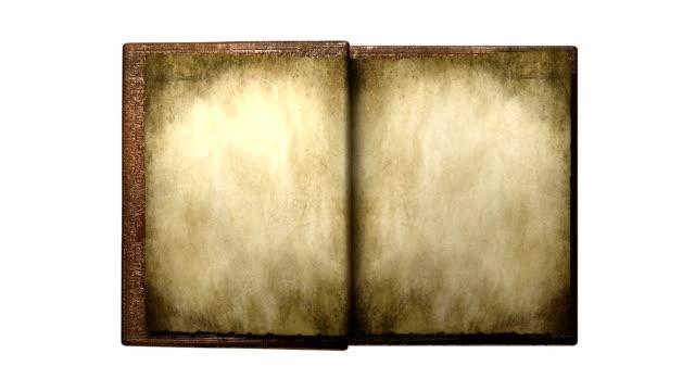 old magic leather book - book open 個影片檔及 b 捲影像
