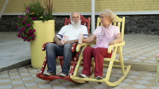 Royalty Free Old Man Rocking Chair Hd Video 4k Stock Footage B