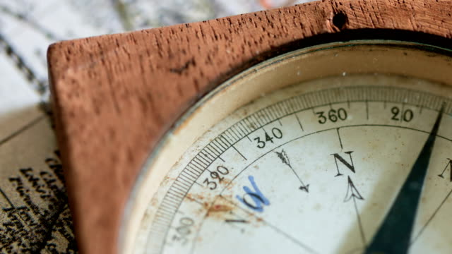 Old Mariner's Compass 4K Video navigational compass stock videos & royalty-free footage