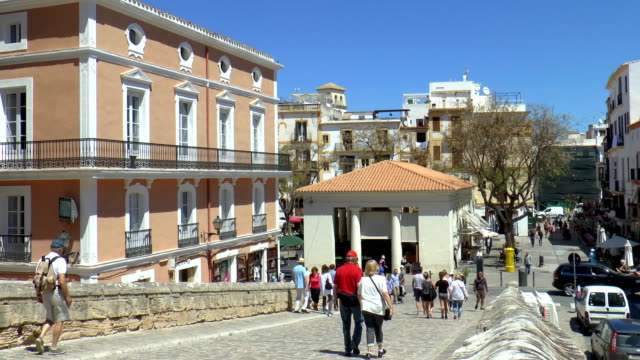 stary market-ibiza, hiszpania - ibiza filmów i materiałów b-roll