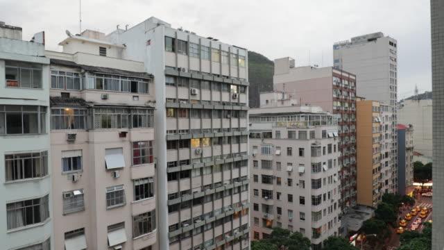 Old modern building facade