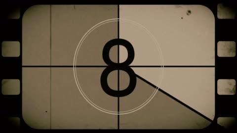 vidéos et rushes de vieux film countdown film reel - tradition