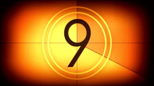 Old movie film countdown