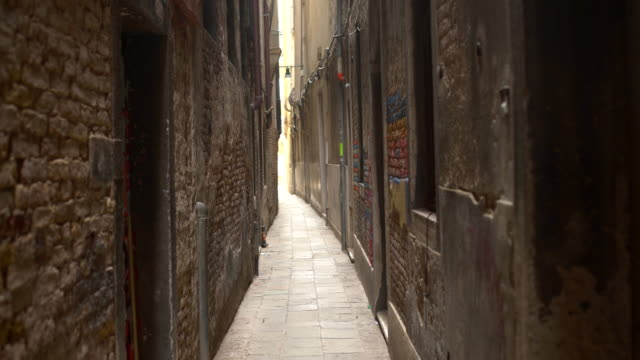 Old narrow alley video