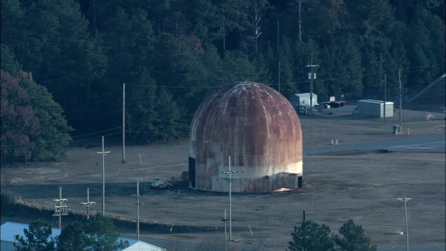 Old Nuclear Power Plants  - Aerial View - South Carolina,  Aiken County,  United States video