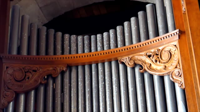 old organ tilt down - classical architecture stock videos & royalty-free footage