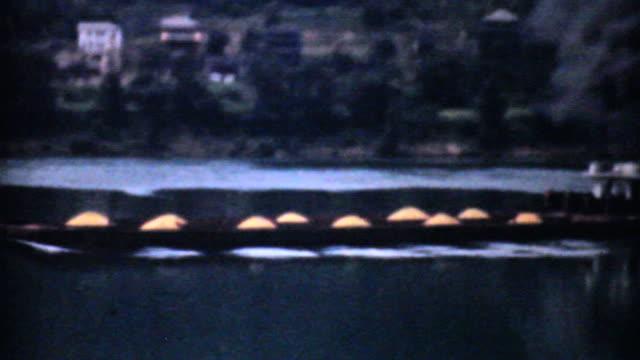 Old Paddlewheel Barge In Ohio-1940 Vintage 8mm film