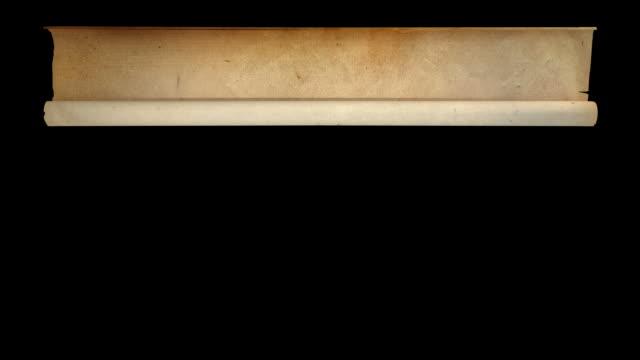 hd: alte papier separaten masken alpha - tora stock-videos und b-roll-filmmaterial