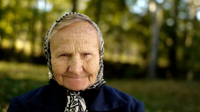 old person portrait video