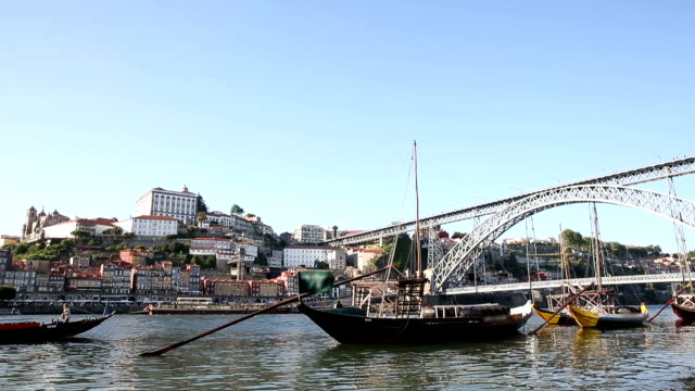 VDO :old Porto and traditional boats, Portugal