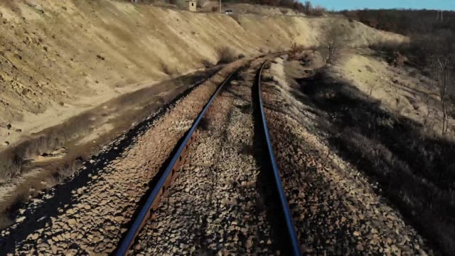 old railway track - milan railway video stock e b–roll