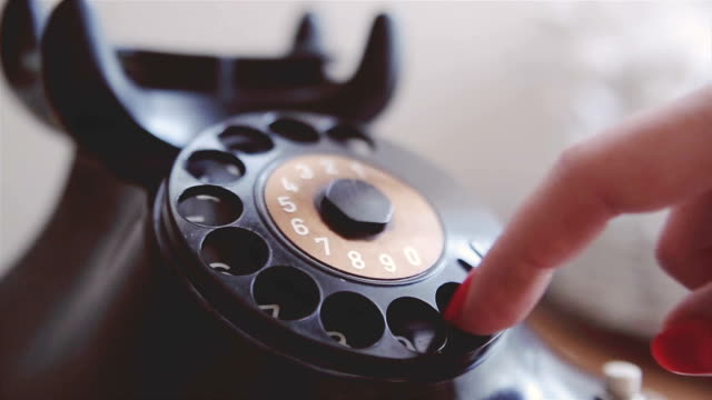 Old, rare, vintage, telephone Old, rare, vintage, telephone the past stock videos & royalty-free footage